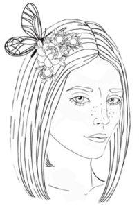 bogini rysunek ilustracja