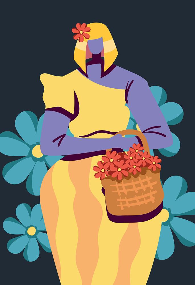bogini z kwiatami